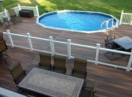 New Stylish Above Ground Pool Deck