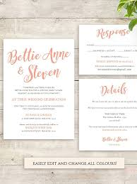 wedding invitation design templates 16 printable wedding invitation templates you can diy