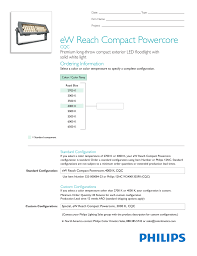 Led Lighting Sales Leads Ew Reach Compact Powercore Ce Cqc Ordering Information