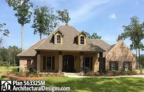 split bedroom french country home plan