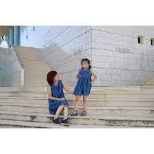 Sét váy jean cho Mẹ và bé gái