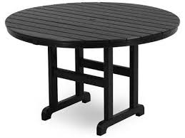 polywood la casa cafe recycled plastic 48 round dining table with umbrella hole