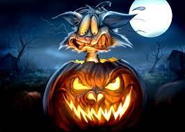 Halloween Wallpaper Cat In Pumpkin Free ...