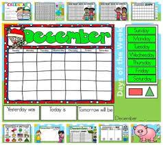 Interactive Kindergarten Calendar December For Promethean