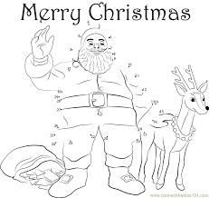 Santa Merry Christmas dot to dot printable worksheet - Connect The ...