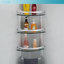 Bathroom Glass Corner Shelves Shower New Aluminum 32 Tier Glass Shelf Shower Holder Bathroom Accessories