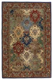 batroun ba156 navy red light blue green area rug 8 x8 traditional area rugs by arearugs