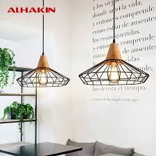 retro modern lighting. alhakin nordic retro modern lamps dia 40cm metal pendant lamp for restaurant wire cage black lighting