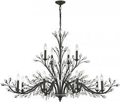 elk 11777 8 4 crystal branches burnt bronze chandelier lamp elk within branch crystal