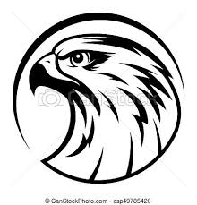 bald eagle template eagle head logo template hawk mascot graphic portrait of a clip