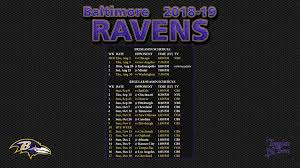 baltimore ravens 2018 19 wallpaper schedule