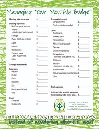 simple printable budget worksheet free printables along the way the way to healthy living