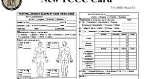 Spouse/next of kin should have a copy of this document or know where to locate it. Ems Solutions International By Drramonreyesmd Marca Registrada Tccc Card Tactical Combat Casualty Care