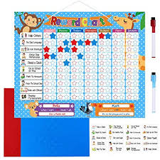 Reward Chart For 2 Year Old Toymytoy Reward Chore Chart Magnetic Behavior Chart Board 24 Magnetic Chores 200 Magnetic Stars 2 Color Dry Erase Markers Storage Bag