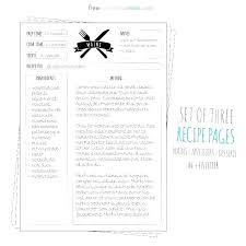 Printable Recipe Journal Pages Download Them Or Print