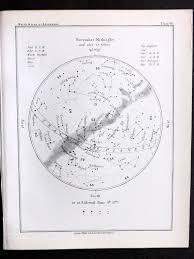 Star Chart For November Ball 1892 Antique Astronomy Print November Midnight Star