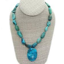 studio b large freeform turquoise nugget necklace oval turquoise pendant