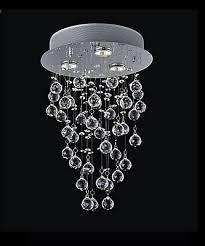drop lighting. 12-inch X 18-inch Crystal Rain Drop Chandelier In Polished Chrome Lighting