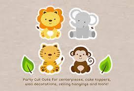 Safari Animals Template Details About Cute Jungle Safari Animals Party Cutouts Decorations Printable