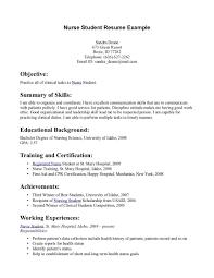 Student Resume Examples Student Resume Examples Graduate Nursing