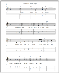 Play kids songs, mother goose nursery rhymes, music by famous print 'kum ba ya' free easy guitar sheet music with notation and tab. Home On The Range Free Guitar Tabs Sheet Music