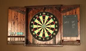 Dart Board Cabinet With Chalkboard Dartboard Cabinet Incl Slate Chalkboard Reclaimed Barn Wood