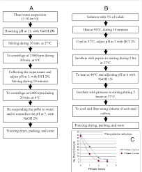 Flow Chart Of The Elaboration At Pilot Level Of The Protein