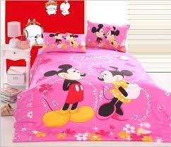minnie mouse bedding pink mickey minnie mouse bedding set queen twin size cotton kids children cartoon