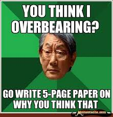 You think i overbearing? - Memestache via Relatably.com