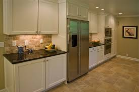 Rock Backsplash Kitchen White Kitchen Cabinets With Stacked Stone Backsplash Cliff Kitchen