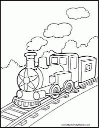 This children's coloring page of a train conductor will help your child develop their imagination while improving their pencil grip. Train Picture To Color Coloring Home