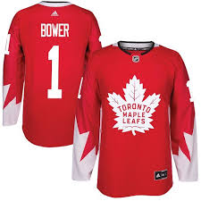 Maple Jersey -reallycheapjerseys Red Bower Authentic Johnny Toronto Nhl Adidas Cheap Men's Leafs com