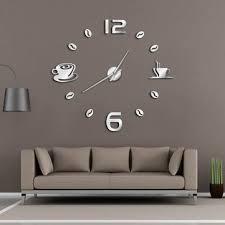 cafe diy large wall clock frameless