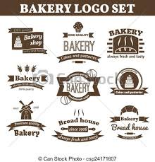 Set Of Vector Bakery Logos Made In Vector