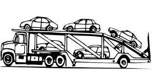 Camion Trasporto Macchine Disegni Da Colorare Gratis Per Bambini