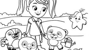 Kids Coloring Page - Ruff-Ruff, Tweet and Dave | Sprout