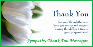 Thank You Note After Funeral To Coworkers Thank You Messages Sympathy Condolence