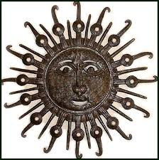 metal sun sculpture wall art