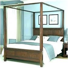 Full Size Platform Canopy Bed Contemporary Beds Wooden Frame King ...