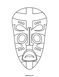 Small Picture Printable African Mask