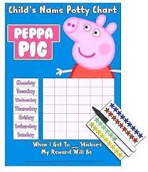 Kids Children Girls Potty Training Sticker Reward Chart Pig Mickey