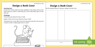 design a book cover worksheet activity sheet amazing fact of the day worksheet