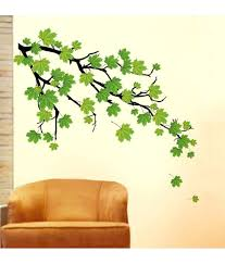 Small Picture StickersKart flowers trees PVC Green Wall Stickers Buy