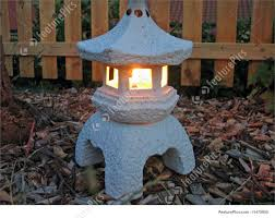 japanese garden lighting. Oil Lamp In A Garden - Typical To Japan And China Japanese Lighting