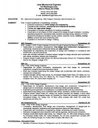 Hvac Engineer Resume Examples Mechanical Sample Design Engineering