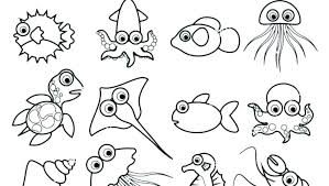 Sea Animals Coloring Pages Preschool Ocean Animal Coloring Pages