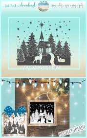 Church Svg Designs Church With Deer Glass Block Design Christmas Svg Eps Png
