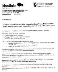 Gwms News : Human Papilloma Virus (Hpv) Vaccine For Grade 6 Students