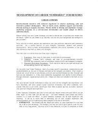 Sample Summary Statement Resume Entry Level Resume Summary Examples Resume Summary Statement
