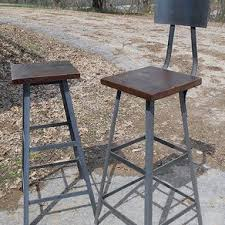 Wooden and metal chairs Furniture Pepperfry Industrial Stool With Reclaimed Wooden Seats By Randy Maner Custommadecom Reclaimed Wood Furniture And Barnwood Furniture Custommadecom